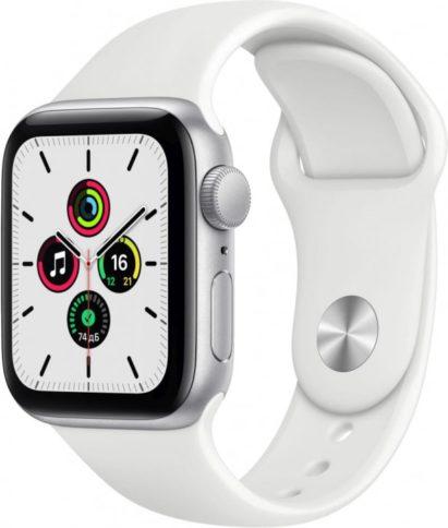 Apple Watch SE 40mm Silver White Sport Band