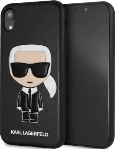 Lagerfeld iPhone Xr PU Leather Karl Hard Black