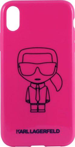 Lagerfeld iPhone XR Hard PC/TPU Karl Pink/Black