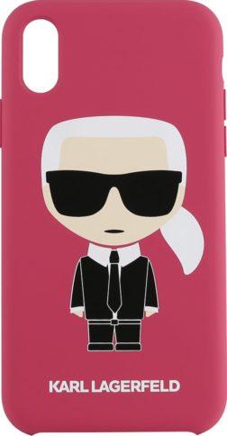 Lagerfeld iPhone Xr Silicone Iconic Karl Hard Fuchsia