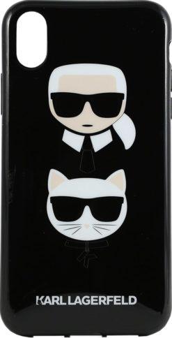 Lagerfeld iPhone XR TPU Karl and Choupette Glitter Black
