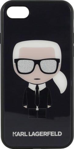 Lagerfeld iPhone 7/8 Iconic Karl Glitter Black