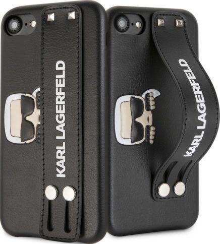 Lagerfeld iPhone 7/8 Karl head Hand strap Black
