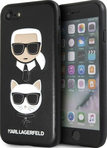 Lagerfeld iPhone 7/8 Karl and Choupette Hard PU Black