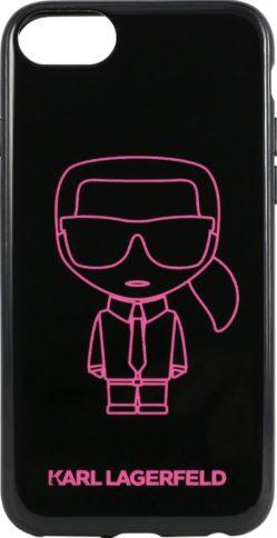Lagerfeld iPhone 7/8 Hard PC/TPU Karl Black/Pink