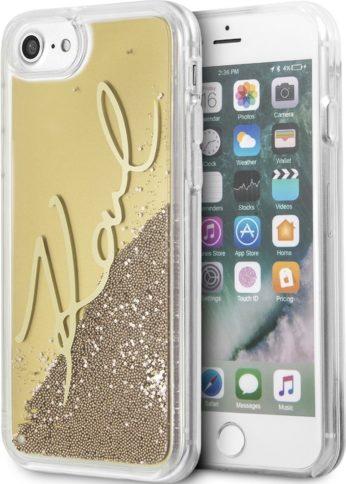 Lagerfeld iPhone 7/8 Karl signature Hard Transp/Gold