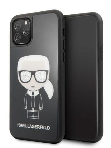 Lagerfeld iPhone 11 Pro Iconic Karl Glass Black