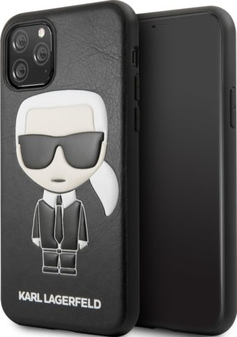 Lagerfeld iPhone 11 Pro Leather Iconic Karl Black