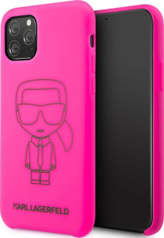 Lagerfeld iPhone 11 Pro Silicone Ikonic Pink/Black