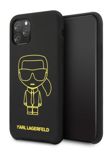 Lagerfeld iPhone 11 Pro Silicone Ikonic Black/Yellow
