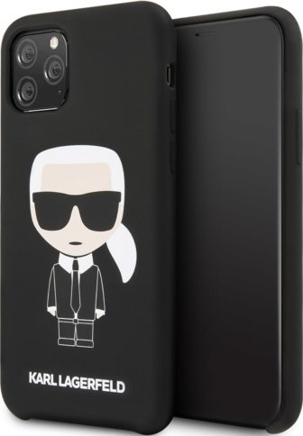Lagerfeld iPhone 11 Pro Silicone Iconic Karl Black