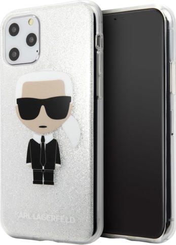 Lagerfeld iPhone 11 Pro TPU Iconic Karl Glitter Silver