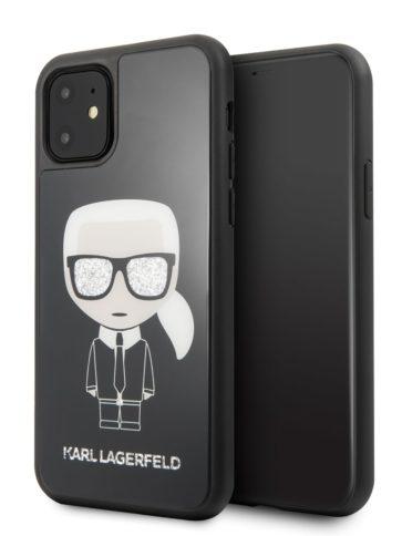 Lagerfeld iPhone 11 Iconic Karl Glass Black