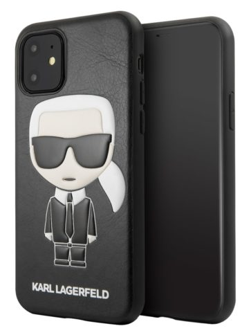 Lagerfeld iPhone 11 Leather Iconic Karl Black