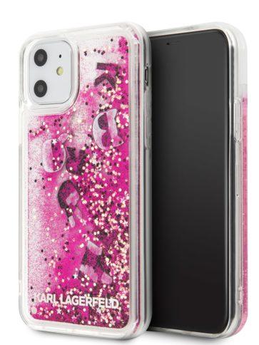 Lagerfeld iPhone 11 Glitter Black/Rose Gold