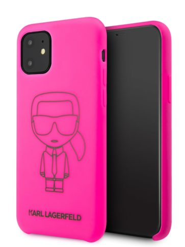 Lagerfeld iPhone 11 Silicone Ikonic Pink/Black
