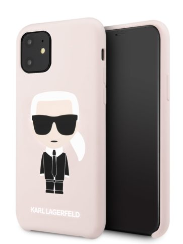 Lagerfeld iPhone 11 Silicone Iconic Karl Pink