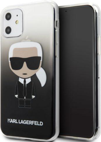 Lagerfeld iPhone 11 TPU Iconic Karl Glass Gradient Black