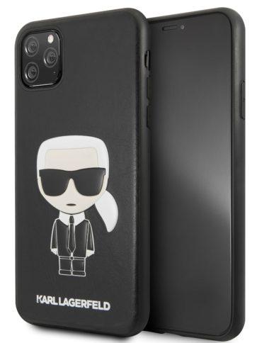 Lagerfeld iPhone 11 Pro Max PU Leather Karl Hard Black