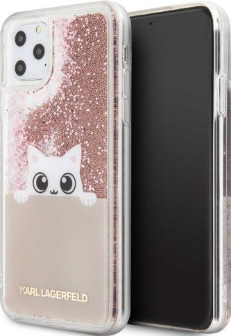 Lagerfeld iPhone 11 Pro Max Liquid Peek a Boo Hard Black/Rose Gold