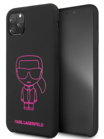 Lagerfeld iPhone 11 Pro Max Silicone Karl Black/Pink