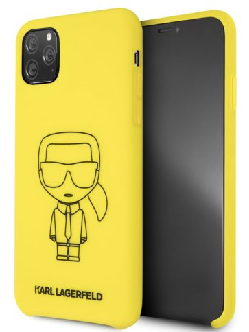 Lagerfeld iPhone 11 Pro Max Silicone Karl Yellow/Black