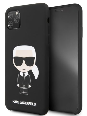 Lagerfeld iPhone 11 Pro Max Silicone Iconic Karl Black