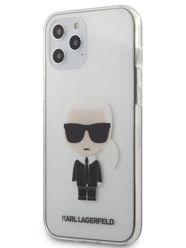Lagerfeld iPhone 12 Pro Max TPU Ikonik Karl Hard Transparent