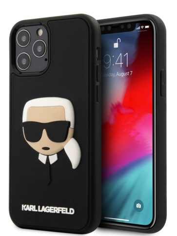 Lagerfeld iPhone 12/12 Pro 3D Karl Head Black