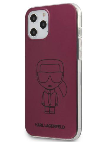 Lagerfeld iPhone 12/12 Pro Ikonik Metalic Pink