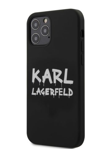 Lagerfeld iPhone 12/12 Pro Silicone Graffiti Hard Black