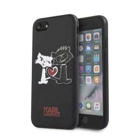Lagerfeld iPhone 7 Choupette in Love Hard PU Black