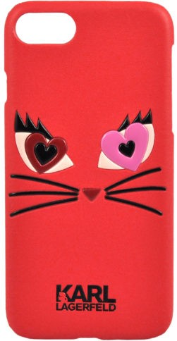 Lagerfeld iPhone 7 Choupette in Love 2 Hard PU Red