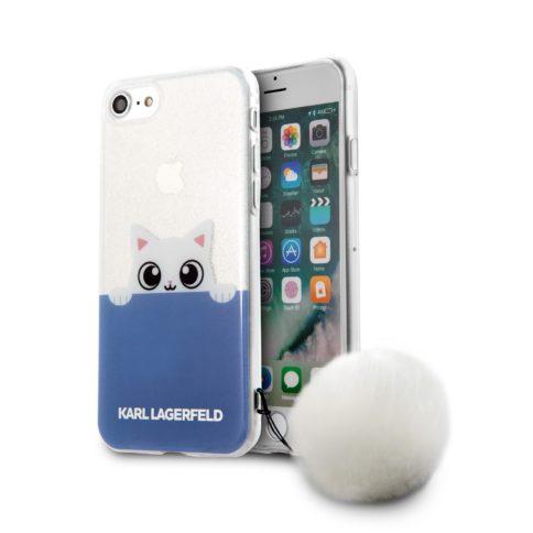 Lagerfeld iPhone 7 K-Peek A Boo Hard Transparent TPU Blue