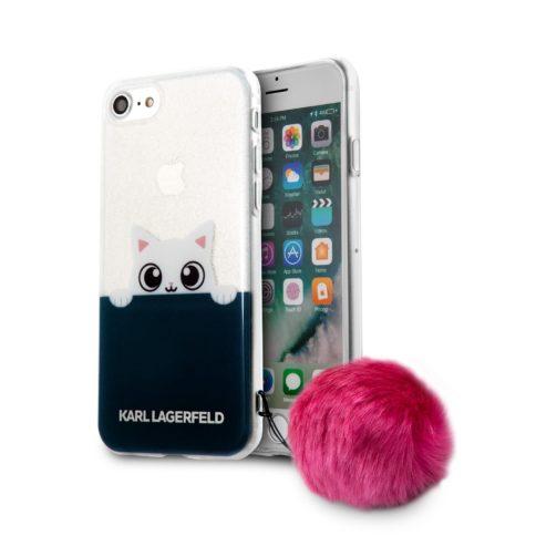 Lagerfeld iPhone 7 K-Peek A Boo Hard Transparent TPU Pink