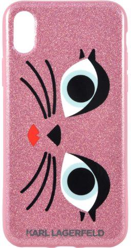 Lagerfeld iPhone X Glam Glitter Gard Pink