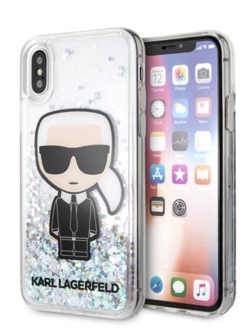 Lagerfeld iPhone X/XS Liquid Karl Hard Iridescent