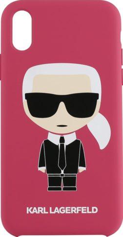 Lagerfeld iPhone X/Xs Silicone Iconic Karl Hard Fuchsia