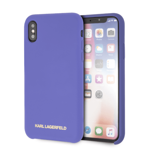 Lagerfeld iPhone X/Xs Silicone Hard Violet
