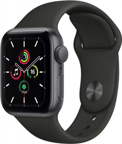 Apple Watch SE 40mm Space Gray Black Sport Band