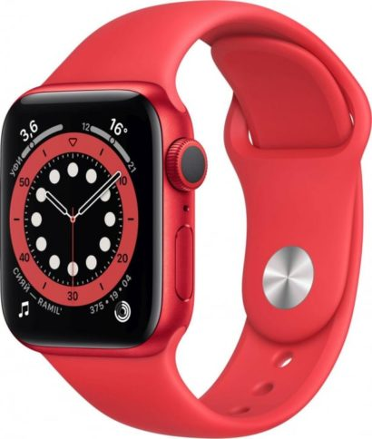 Apple Watch Series 6 40mm Red Sport Red Band