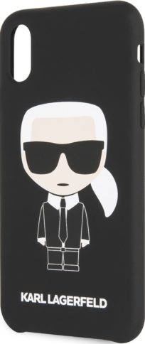 Lagerfeld iPhone Xr Silicone Iconic Karl Black