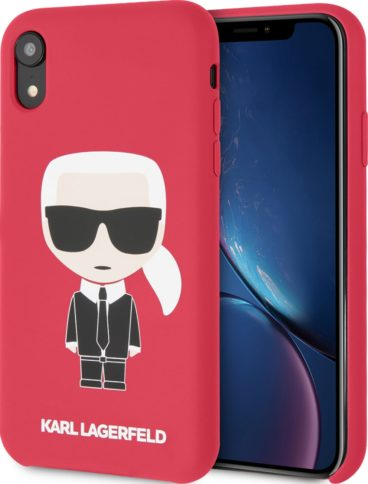 Lagerfeld iPhone Xr Silicone Iconic Karl Red