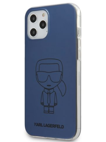 Lagerfeld iPhone 12/12 Pro Ikonik Hard Blue