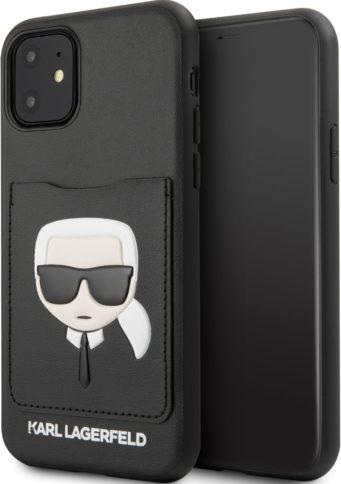 Lagerfeld iPhone 11 Cardslot PU Leather Black