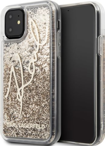 Lagerfeld iPhone 11 Glitter Karl Transparent/Gold