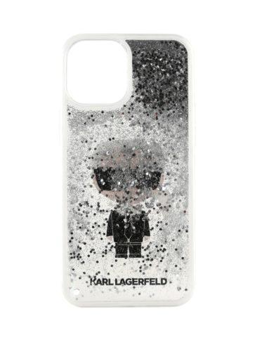 Lagerfeld iPhone 12 Pro Max Glitter Ikonik Karl Silver