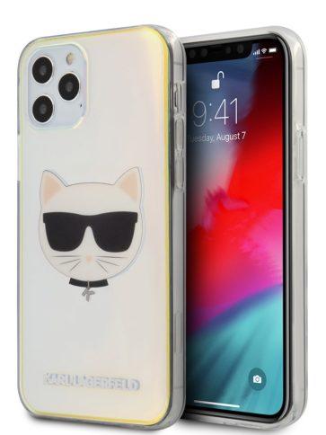 Lagerfeld iPhone 12/12 Pro Choupette's head Iridescent