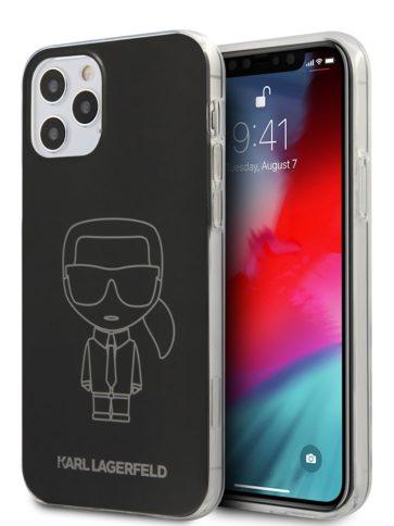 Lagerfeld iPhone 12/12 Pro Ikonik Metallic Black