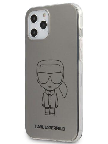 Lagerfeld iPhone 12/12 Pro Ikonik Metallic Silver